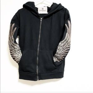 Givenchy. Winged sleeves zip up hoodie